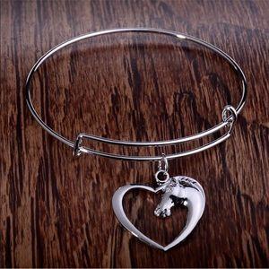 Jewelry - Horse Head Heart Bracelet